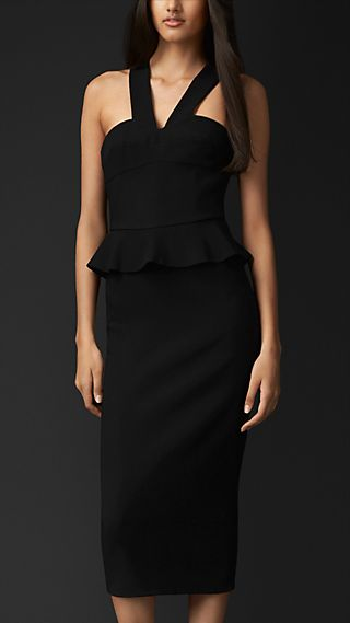 Tie-Back Peplum Dress