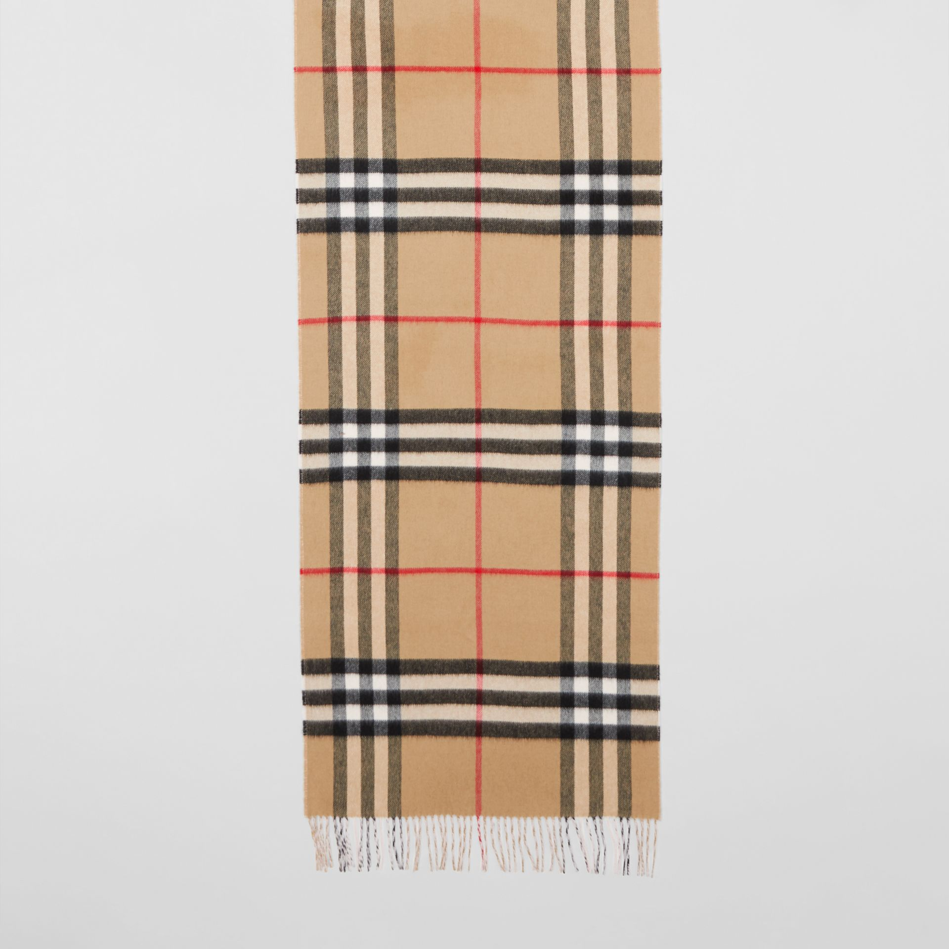 Reversible Check Cashmere Scarf in Frosted Pink | Burberry Canada - gallery image 4