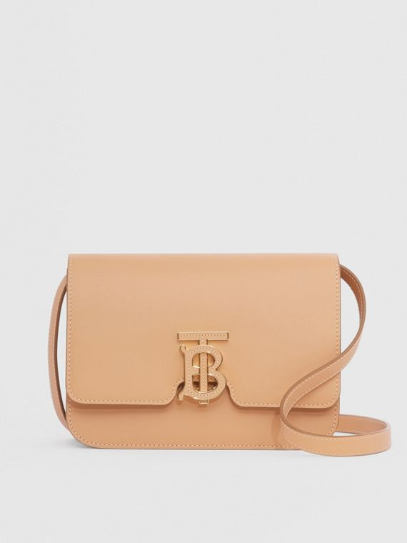 Small Leather TB Bag in Warm Sand