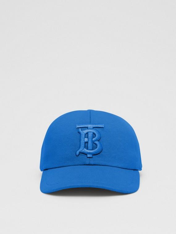 Casquette de baseball en jersey Monogram (Bleu Éclatant)