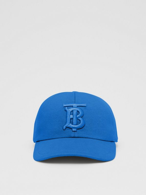 Monogram Motif Jersey Baseball Cap in Vibrant Blue