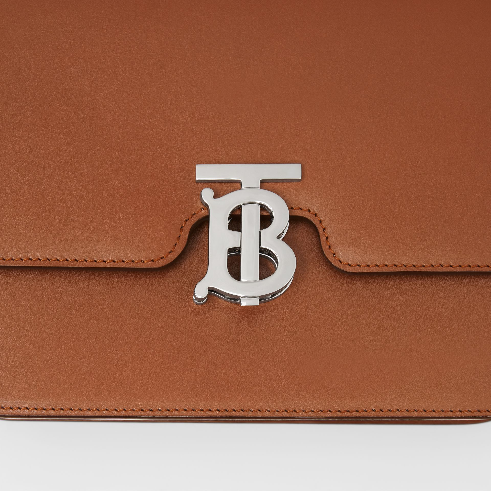Medium Leather TB Bag in Malt Brown - Women | Burberry Australia - gallery image 1