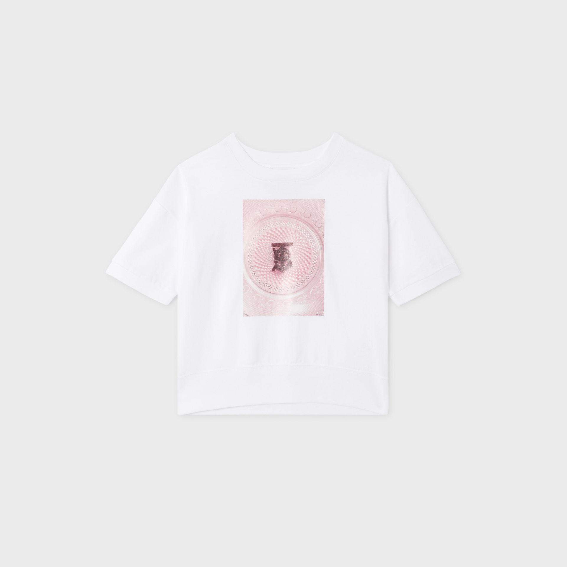 Confectionery Print Cotton T-shirt in White | Burberry - gallery image 0