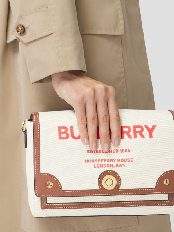 Horseferry Print Canvas Note Crossbody Bag in Natural/tan - Women | Burberry - cell image 2