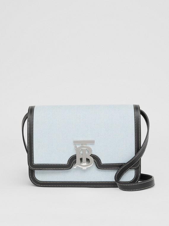 Petit sac TB en toile et cuir bicolore (Cobalt Vif/noir)
