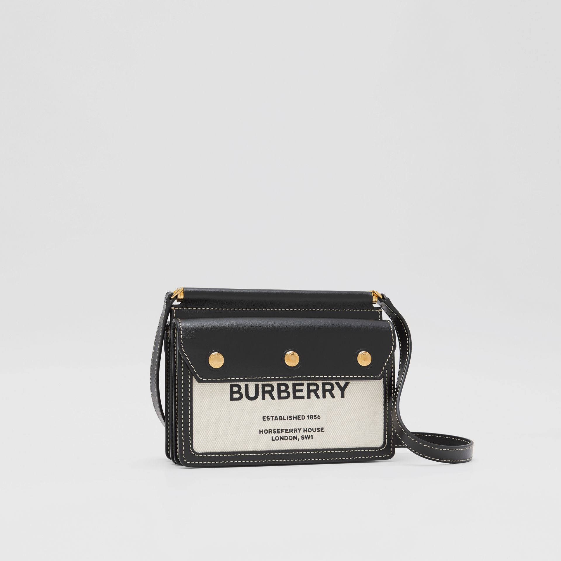 Mini Horseferry Print Title Bag with Pocket Detail - Women | Burberry United States - gallery image 4