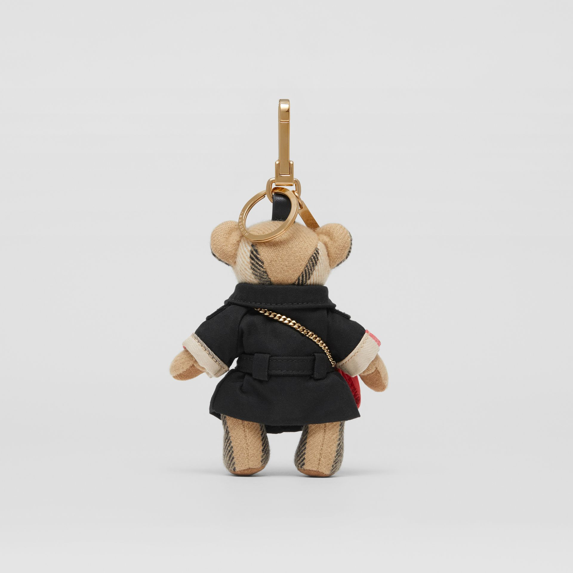 Thomas Bear Charm with Lola Bag in Archive Beige - Women | Burberry Australia - gallery image 3