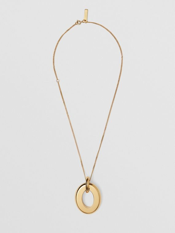 Gold-plated Cut-out Detail Necklace in Light