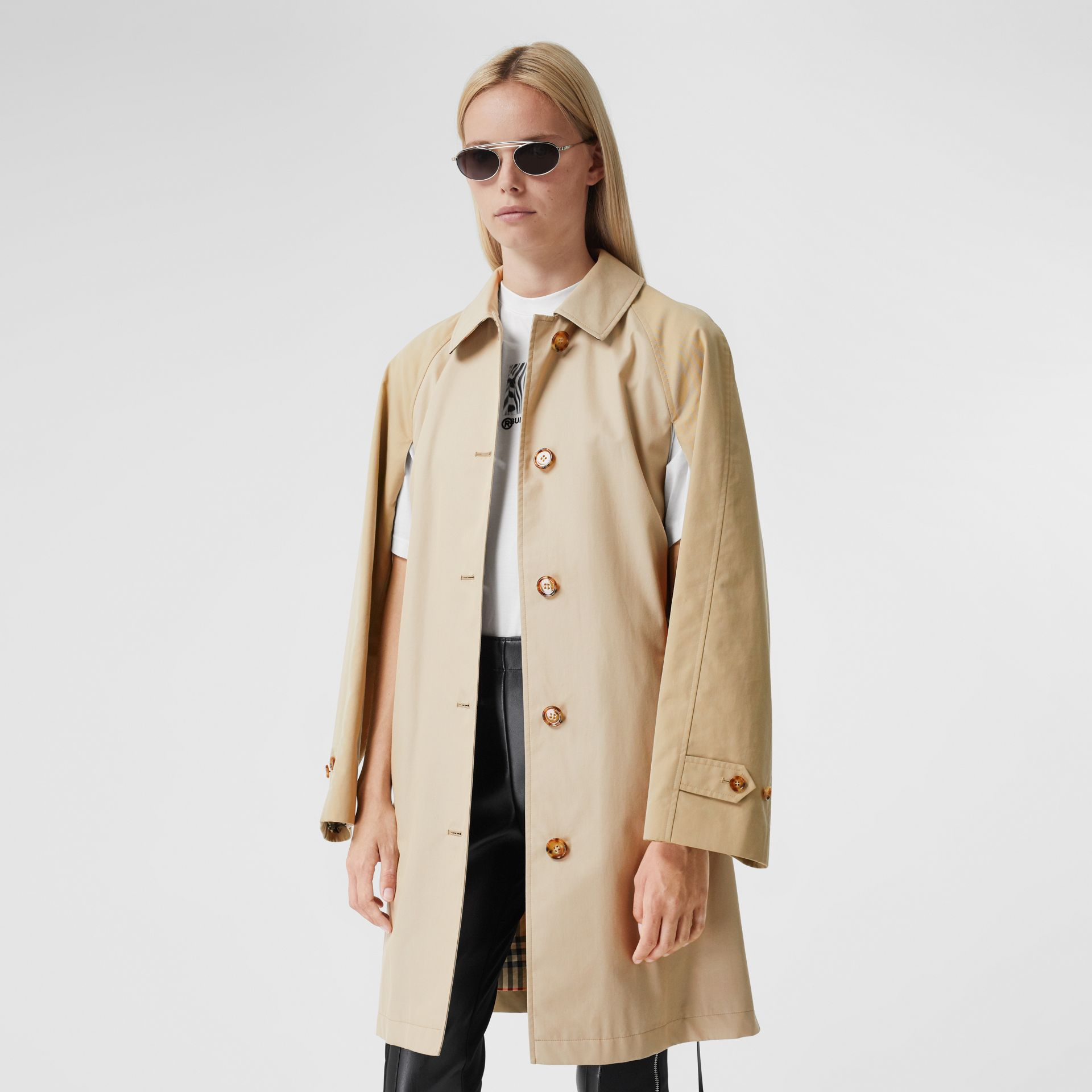 Two-tone Reconstructed Car Coat - Women | Burberry - gallery image 6