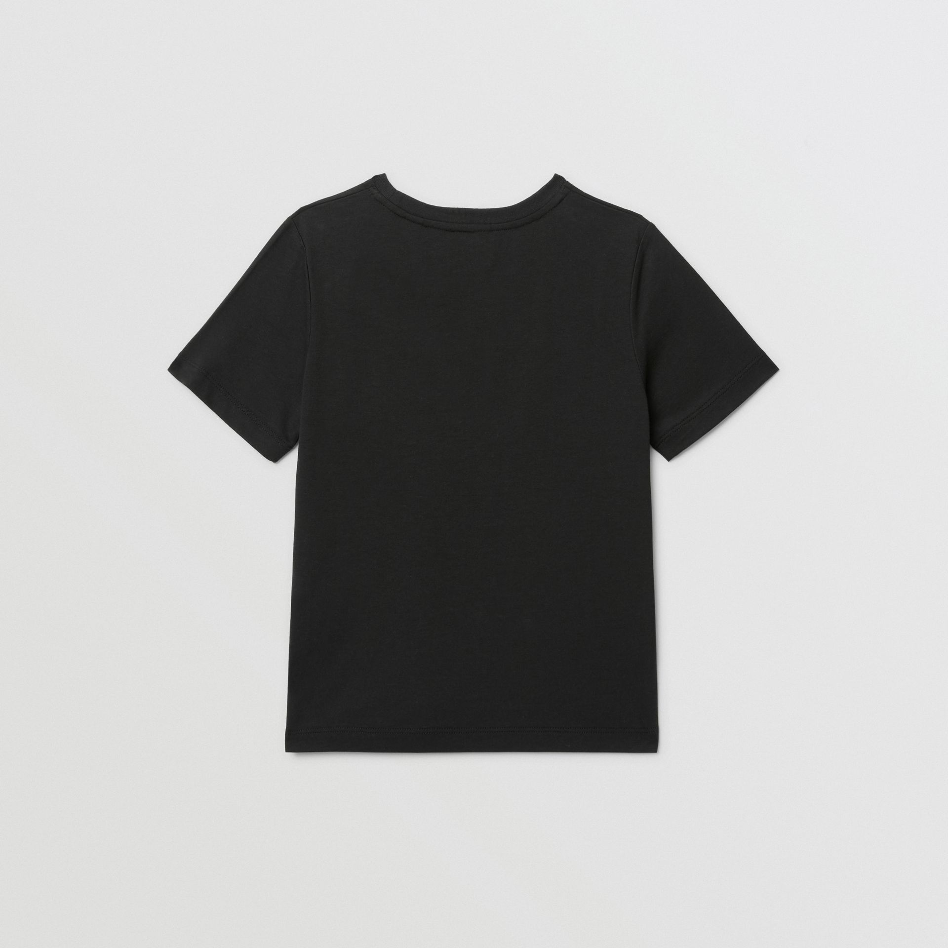 Confectionery Print Cotton T-shirt in Black | Burberry - gallery image 3