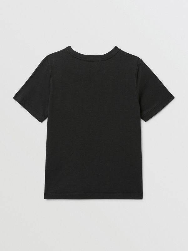 Confectionery Print Cotton T-shirt in Black | Burberry - cell image 3