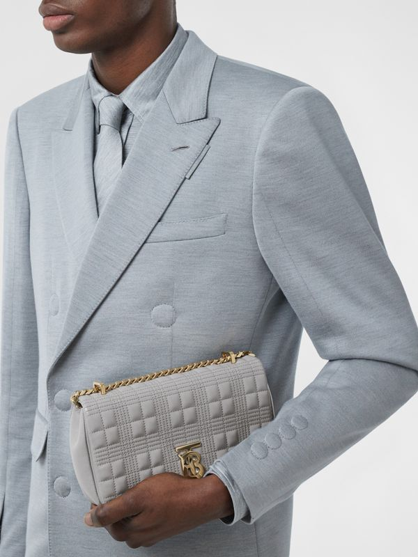 Small Quilted Lambskin Lola Bag in Cloud Grey | Burberry - cell image 3