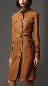 Military Pocket Leather Coat