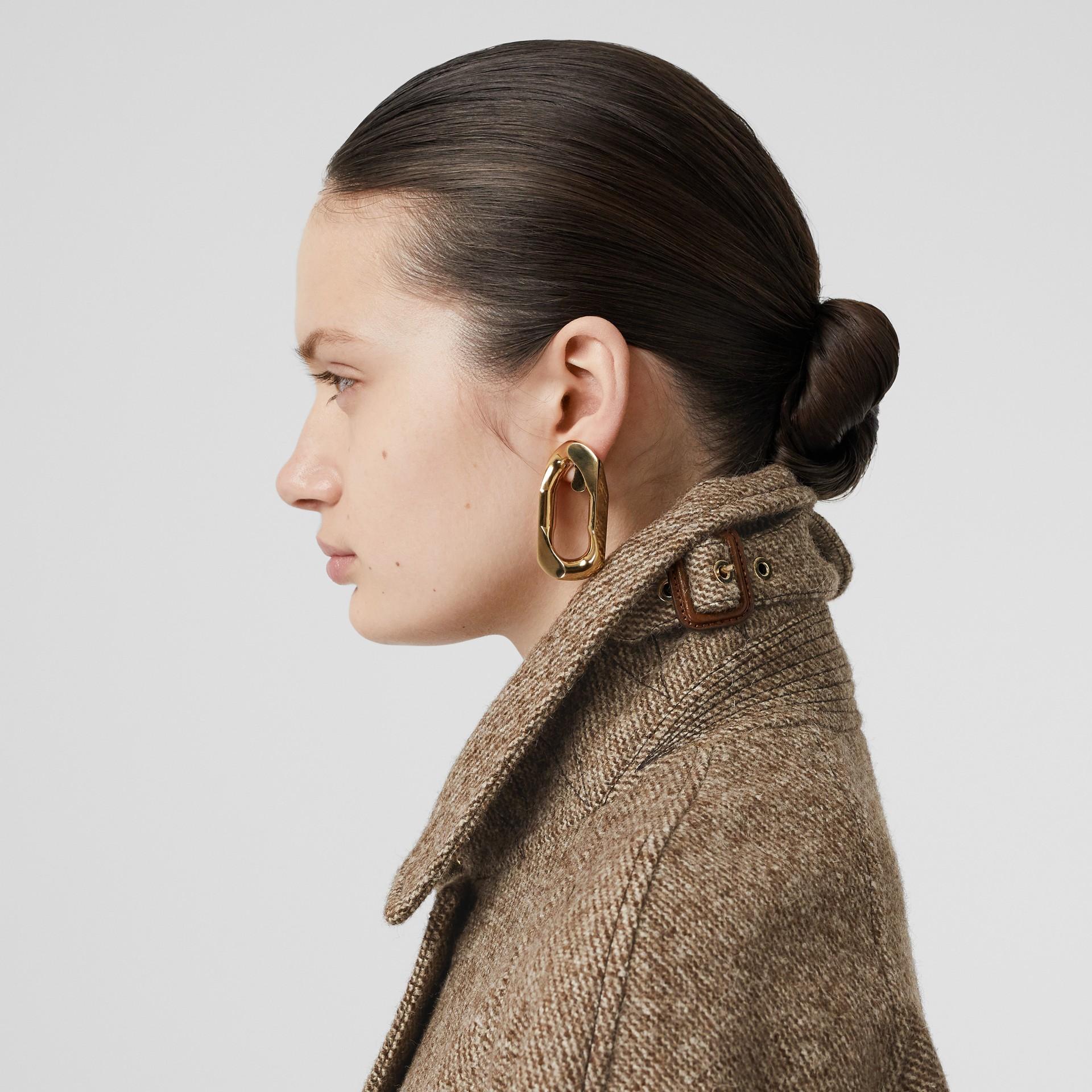 Paletot en laine et mohair avec écharpe (Brun Noisette Foncé) - Femme | Burberry Canada - photo de la galerie 6