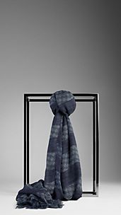 Striped Foulard Scarf