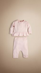 Baby Cotton Peplum Set