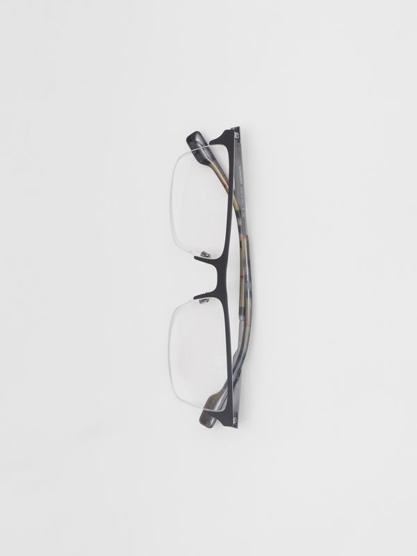 Óculos de grau com armação retangular (Preto Fosco) - Homens | Burberry - cell image 3