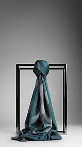Overdyed Check Silk Scarf