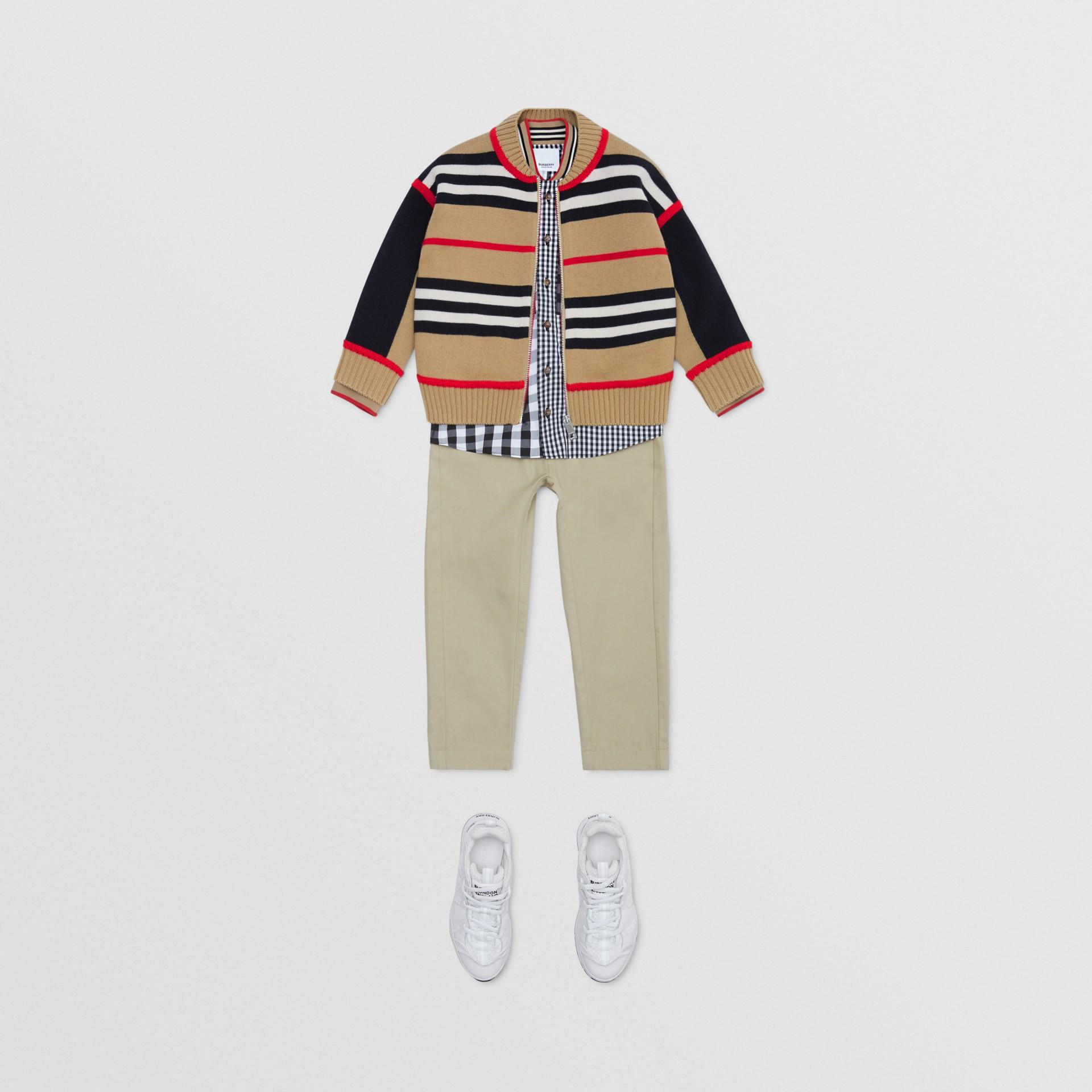 Icon Stripe Wool Cashmere Blend Cardigan | Burberry United Kingdom - gallery image 3