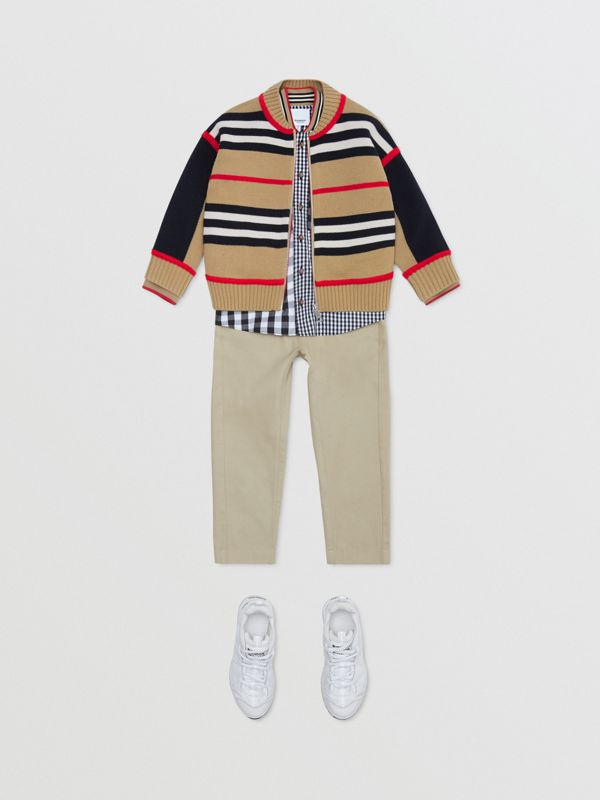 Icon Stripe Wool Cashmere Blend Cardigan | Burberry United Kingdom - cell image 3