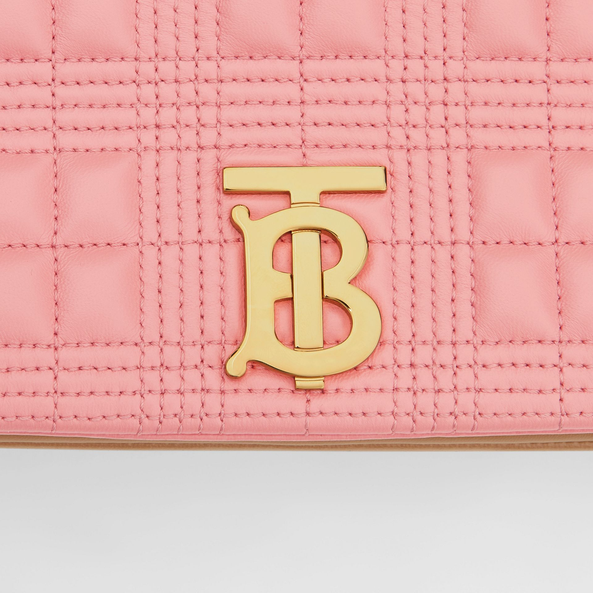 Small Quilted Two-tone Lambskin Lola Bag in Peony/camel - Women | Burberry - gallery image 1