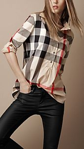 Camisa de checks de corte informal