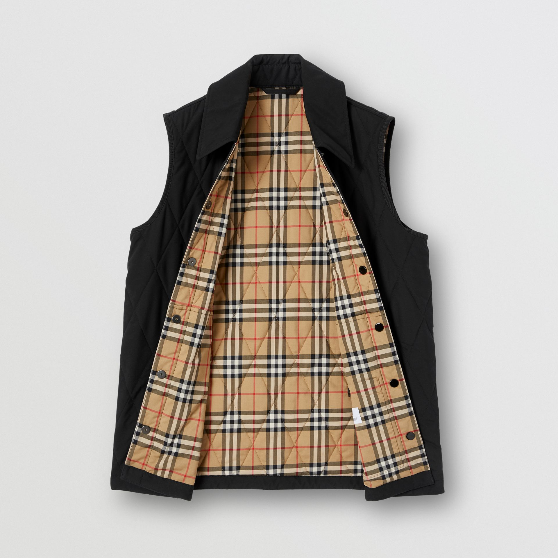 Diamond Quilted Gilet in Black   Burberry United Kingdom - gallery image 8
