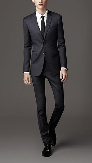 Slim Fit Wool Cashmere Suit