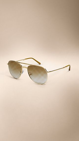 Spark Foldable Aviator Sunglasses with Check Lenses