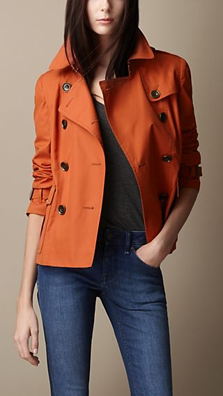 Cotton Rainwear Trench Jacket