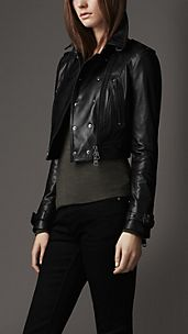 Lambskin Leather Biker Jacket