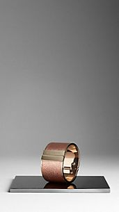 Metallic London Leather Cuff