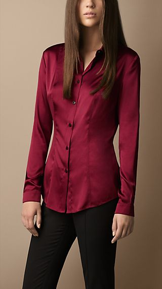 Stretch Silk Shirt