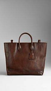 Palmellato Leather Tote Bag