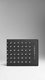 Studded London Leather ID Wallet