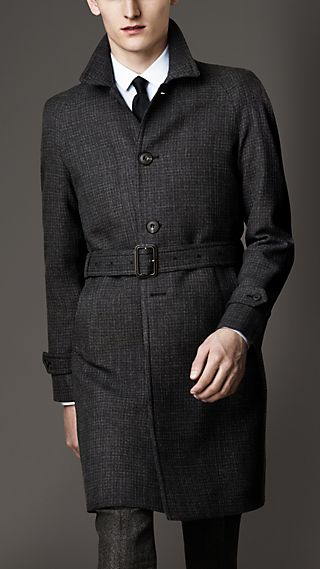 Lightweight Rainwear Wool-Tweed Coat