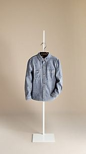 Chambray Cotton Workwear Shirt