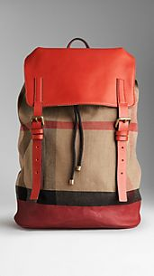 Check Canvas Backpack