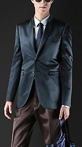 Bonded Satin Tailored Jacket