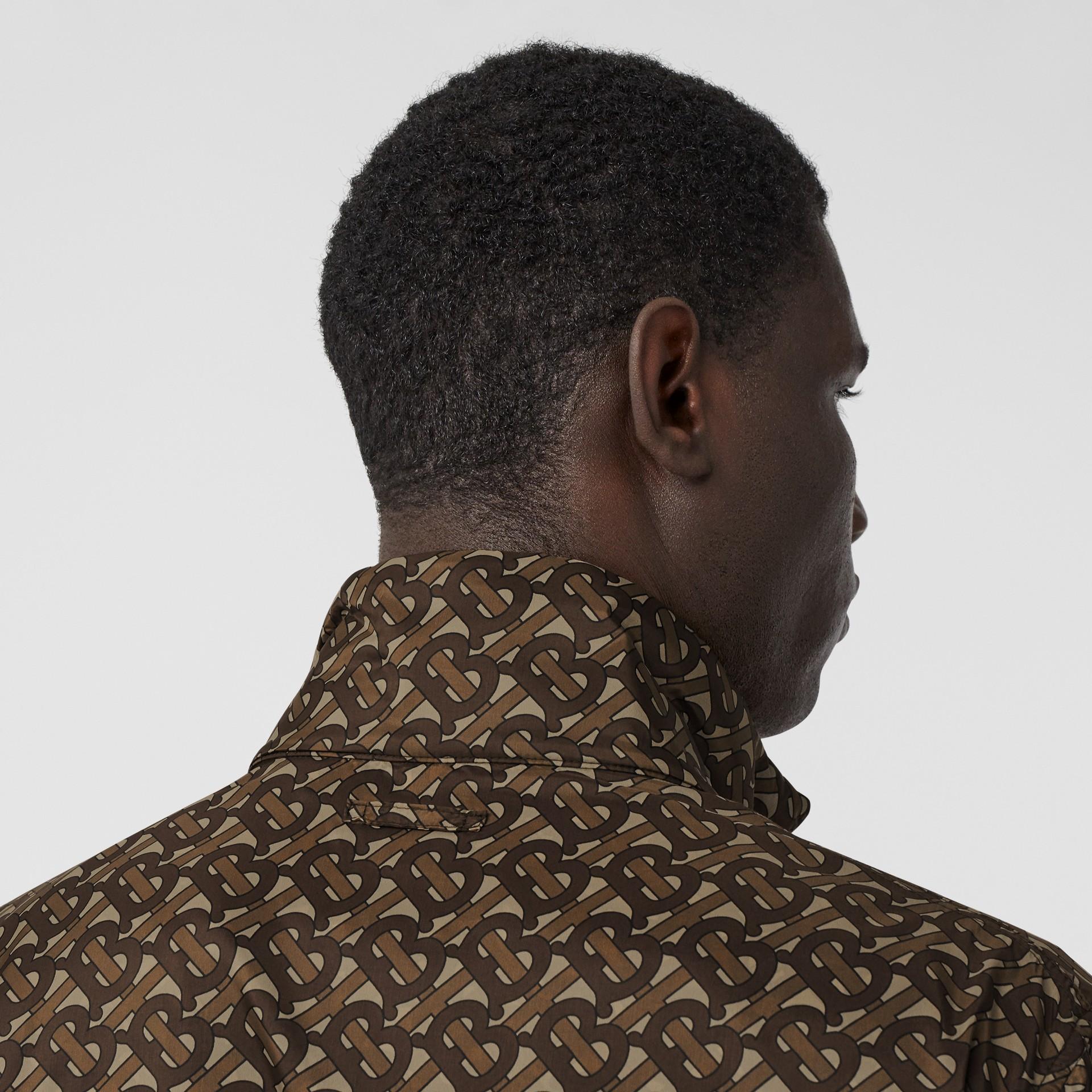 Cotton Harrington Jacket with Detachable Warmer in Honey - Men | Burberry - gallery image 4
