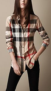 Check Cotton Blend Shirt