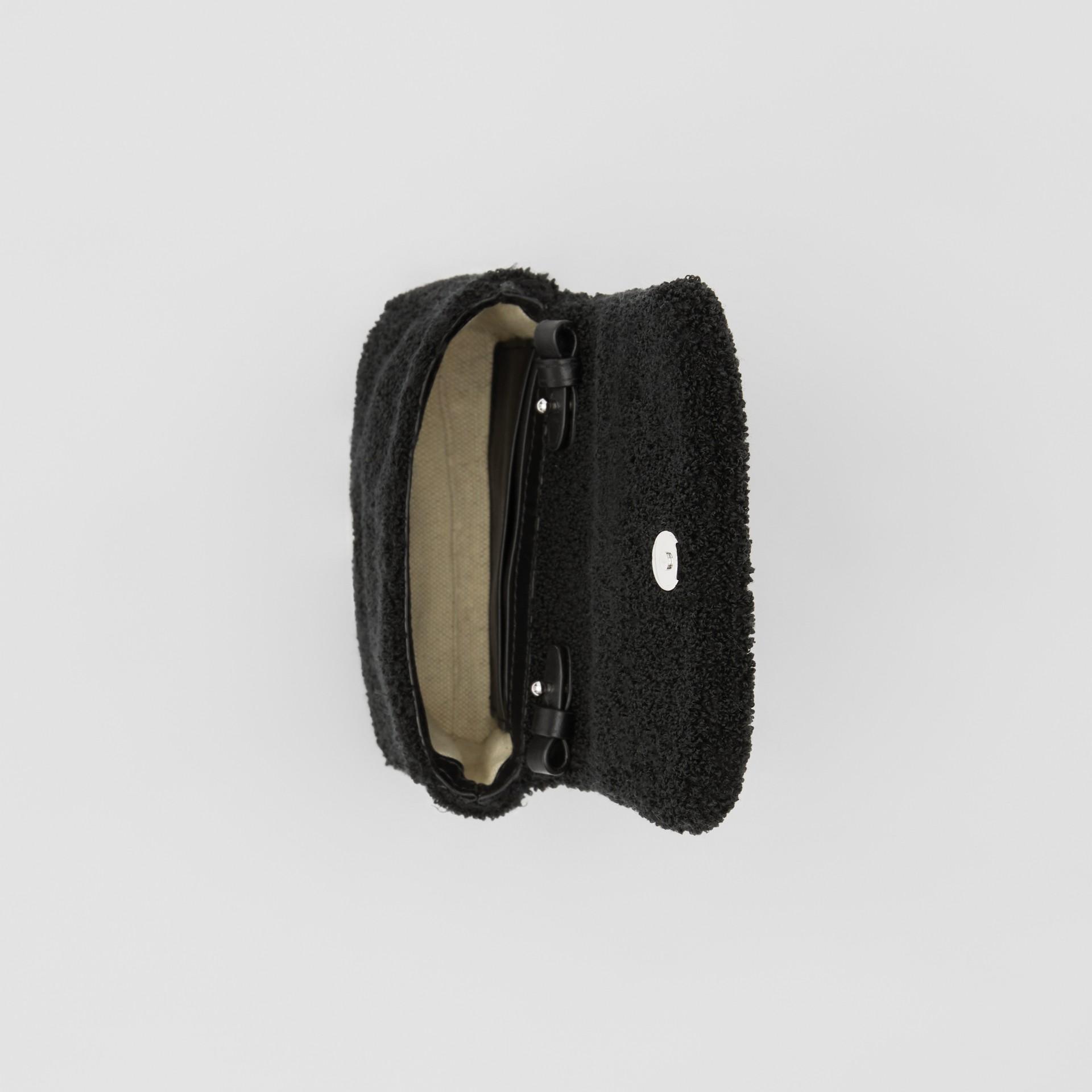 Micro Love Motif Towelling Lola Bag in Black - Women | Burberry - gallery image 4