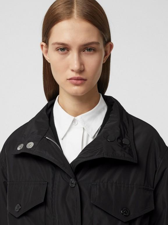 Parka en taffetas à mémoire de forme avec capuche amovible (Noir) - Femme | Burberry - cell image 1