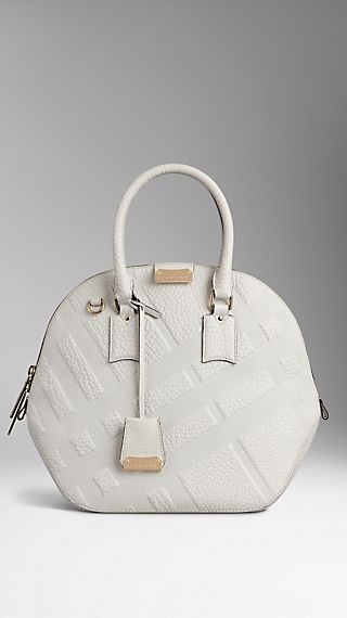 The Medium Orchard in Embossed Check Leather