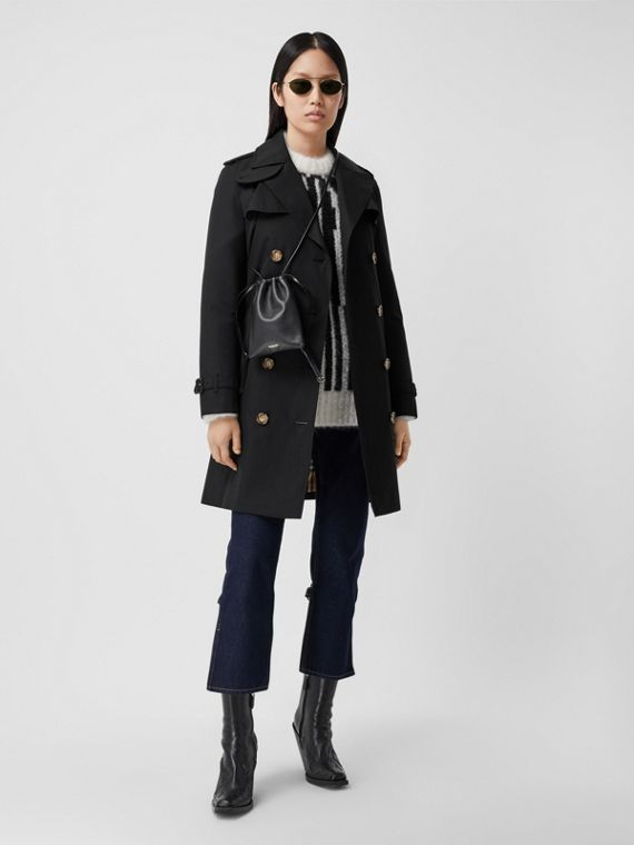 Trench coat Islington curto (Preto)