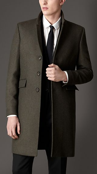 Bi-Colour Lambswool Coat
