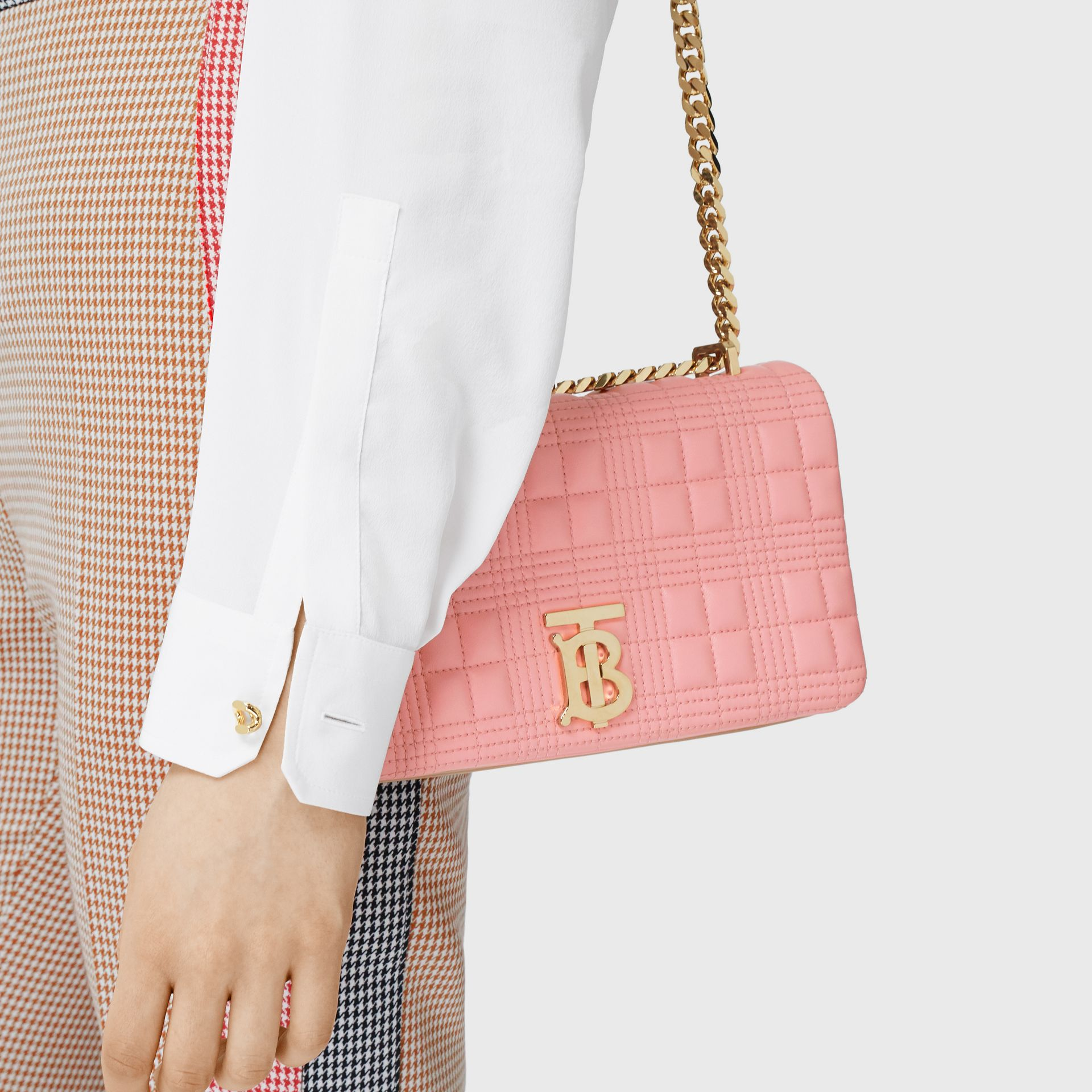 Small Quilted Two-tone Lambskin Lola Bag in Peony/camel - Women | Burberry - gallery image 2