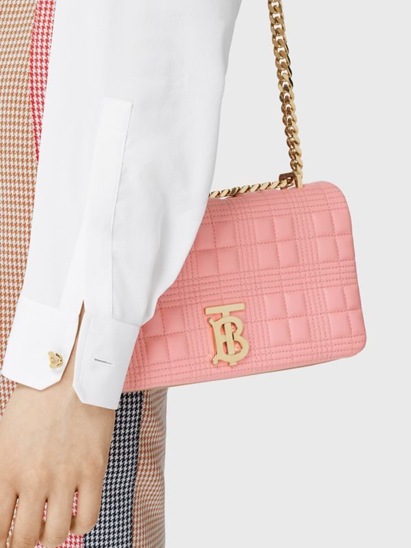 Small Quilted Two-tone Lambskin Lola Bag in Peony/camel - Women | Burberry - cell image 2