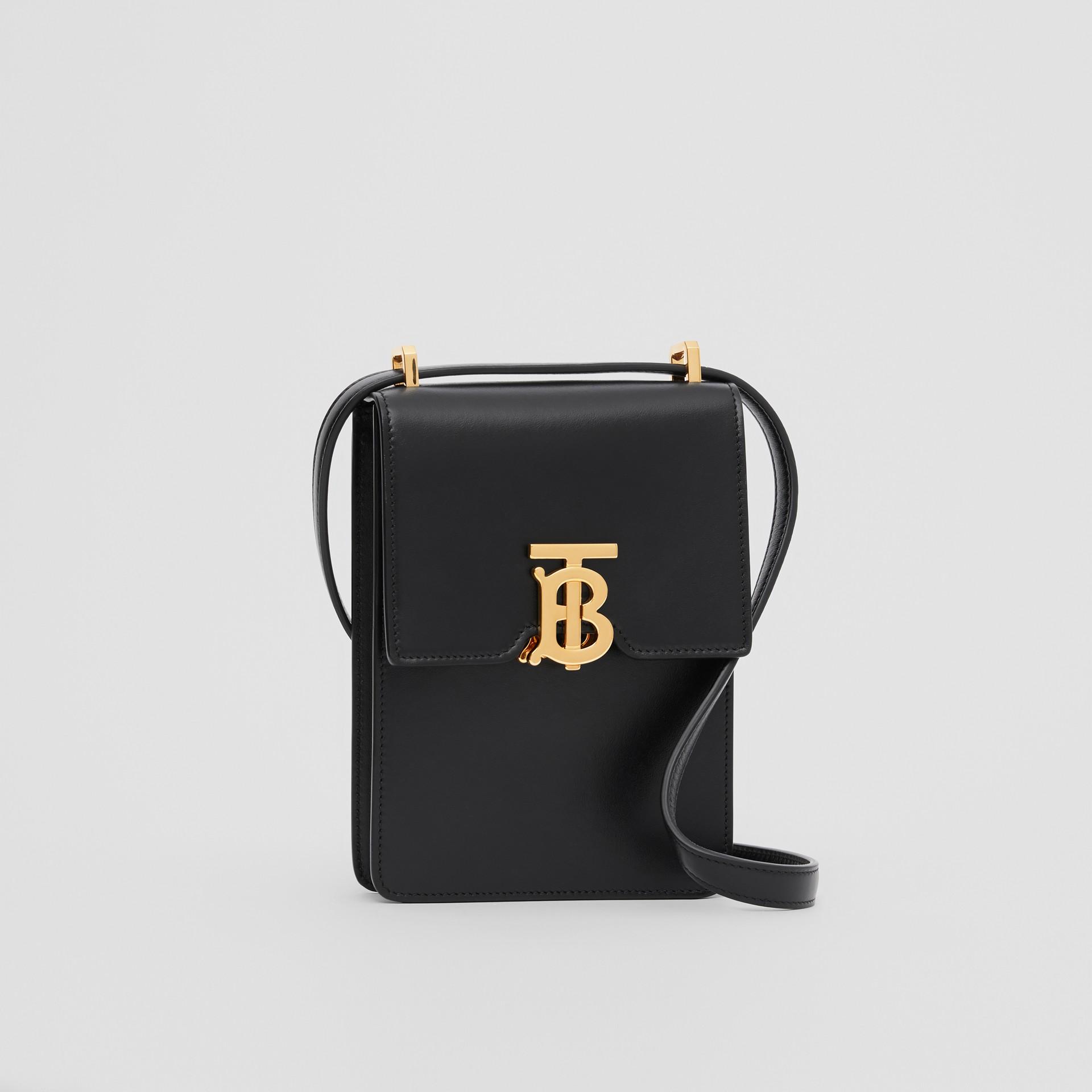 Leather Robin Bag in Black - Women | Burberry Australia - gallery image 8