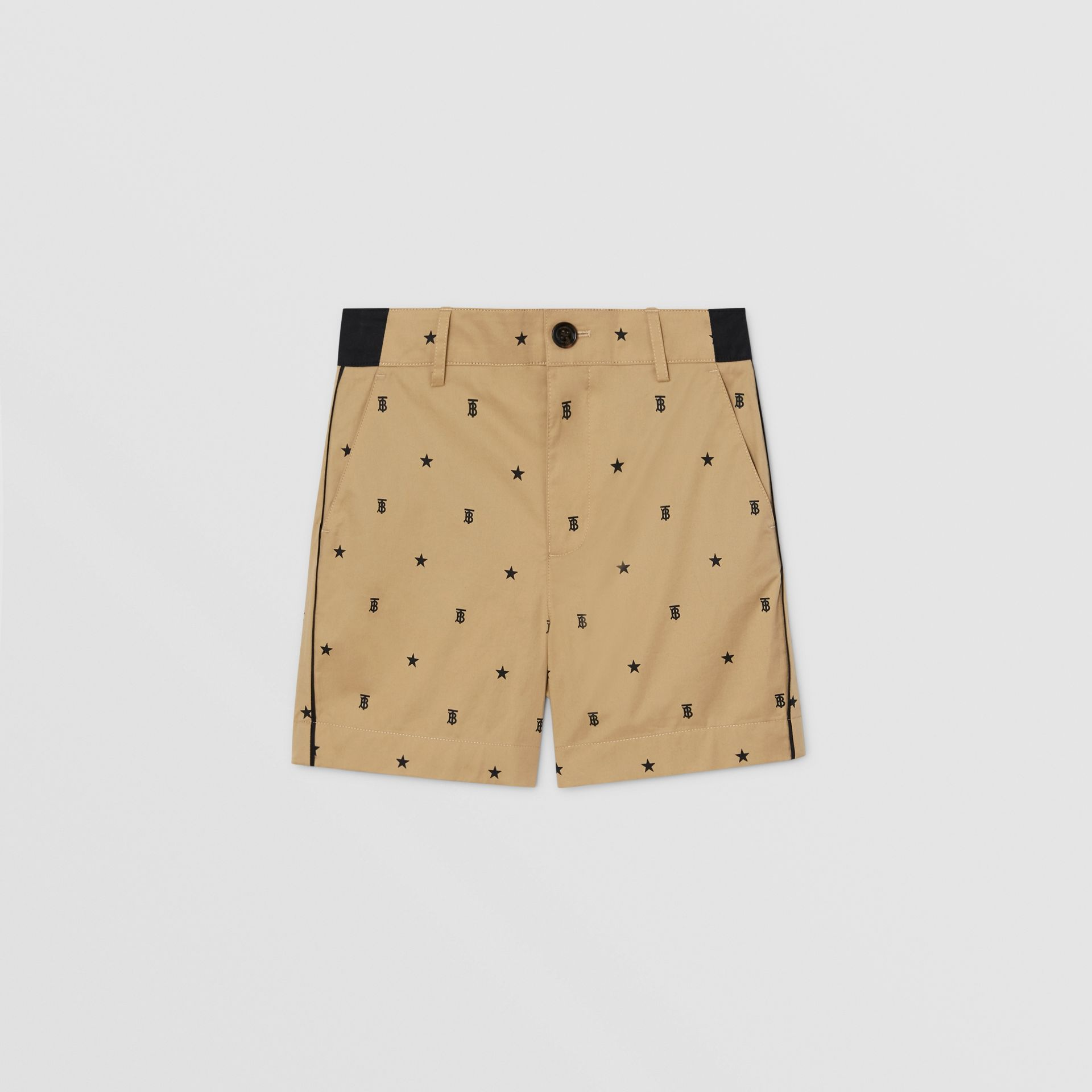 Star and Monogram Motif Tailored Shorts in Sand | Burberry Hong Kong S.A.R. - gallery image 0
